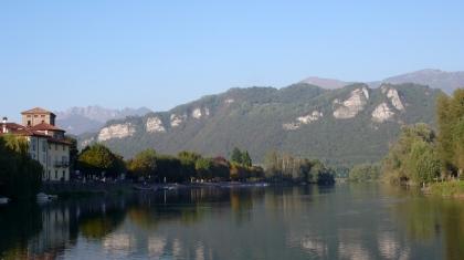 rivière Adda, vu sur la vallée de Valcalepio